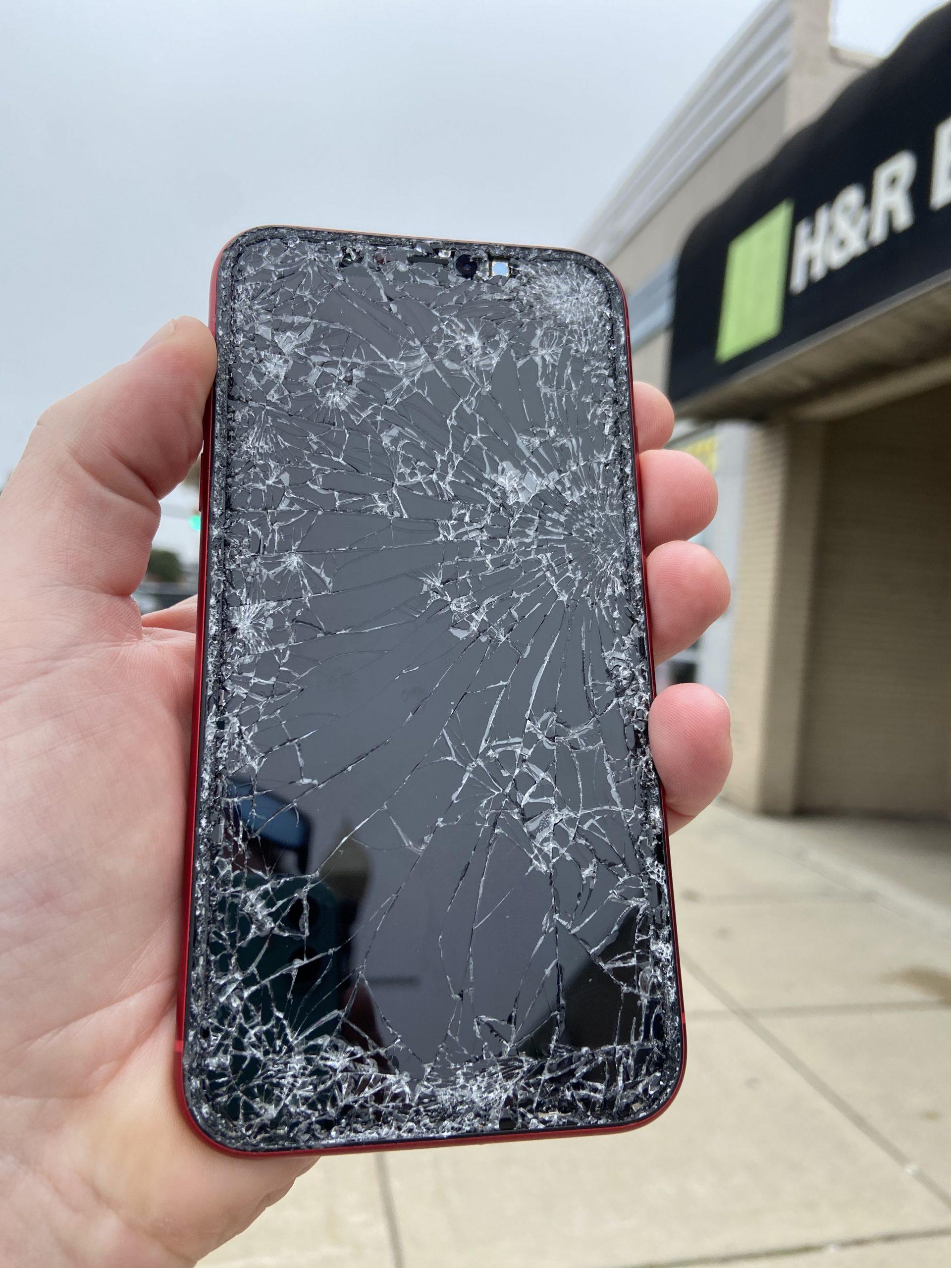 cracked iphone 11 screen